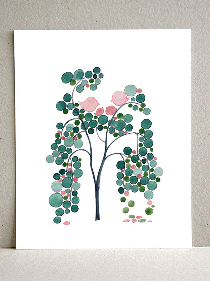 WHITE WILLOW TREE art print