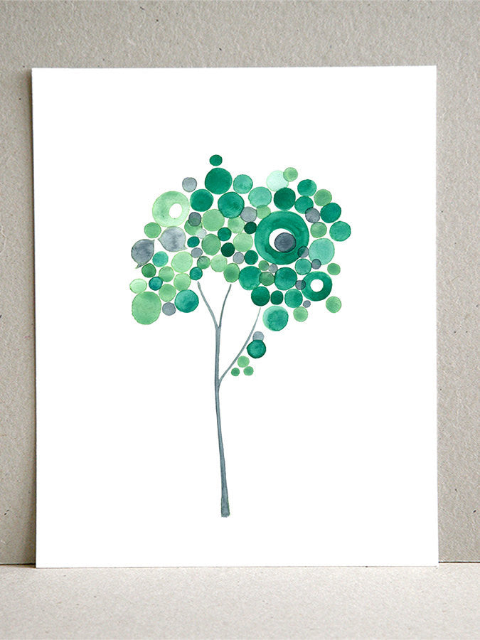 YOUNG TURQUOISE TREE art print