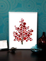 Load image into Gallery viewer, SCANDINAVIAN RED TREE art print