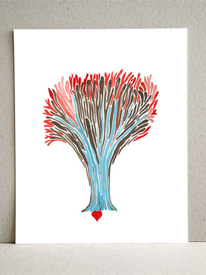 SEED of FIRE TREE art print