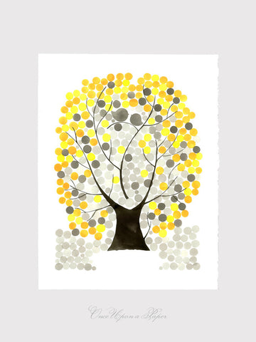Anniversary Gift wall art print - Giclee Art Print Reproduction of Watercolor Painting - SILVER MAPLE TREE - Trees of Life Collection