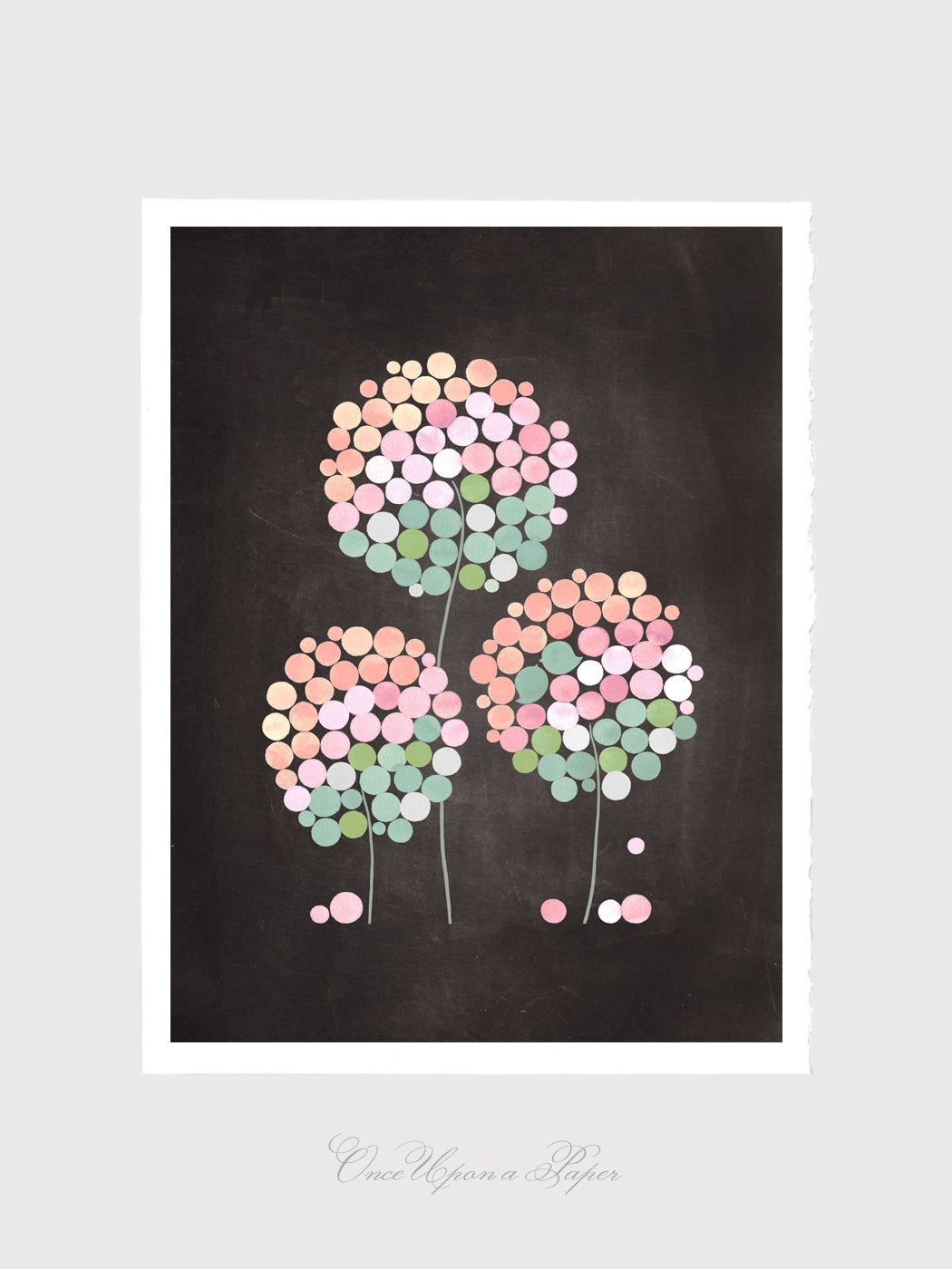 Inspirational art print - Giclee Art Print Reproduction of Watercolor Painting - 3 CLOVER FLOWERS - Trees of Life Collection