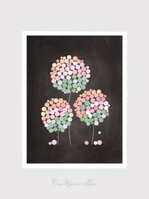 3 CLOVER FLOWERS art print