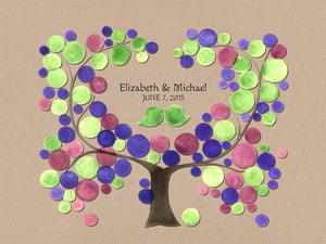 Wedding Guest Book Alternative Print DAMSONS PLUM TREE