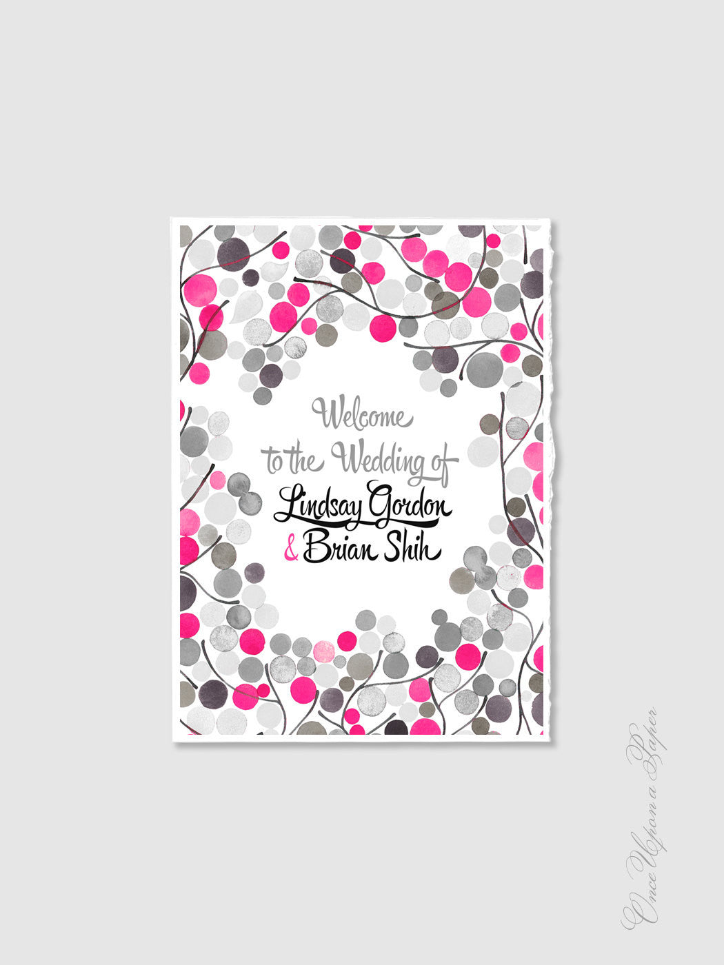 Wedding Welcome Sign Design - DIY Printable Custom Wedding Welcome Sign