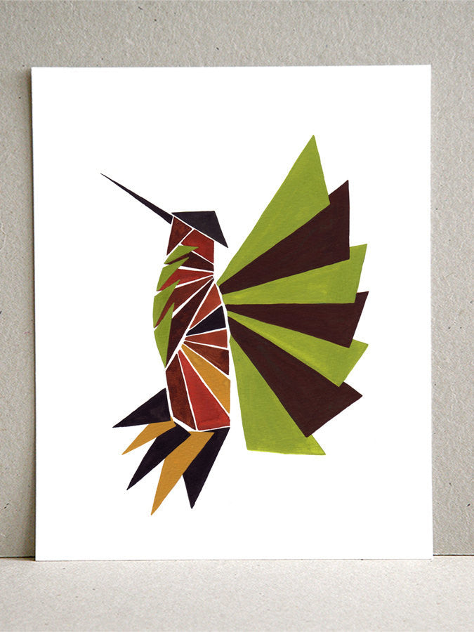 Wall art - Gentry Hummingbird - Giclee Art Print Reproduction of Watercolor Painting - Gentry Birds Collection