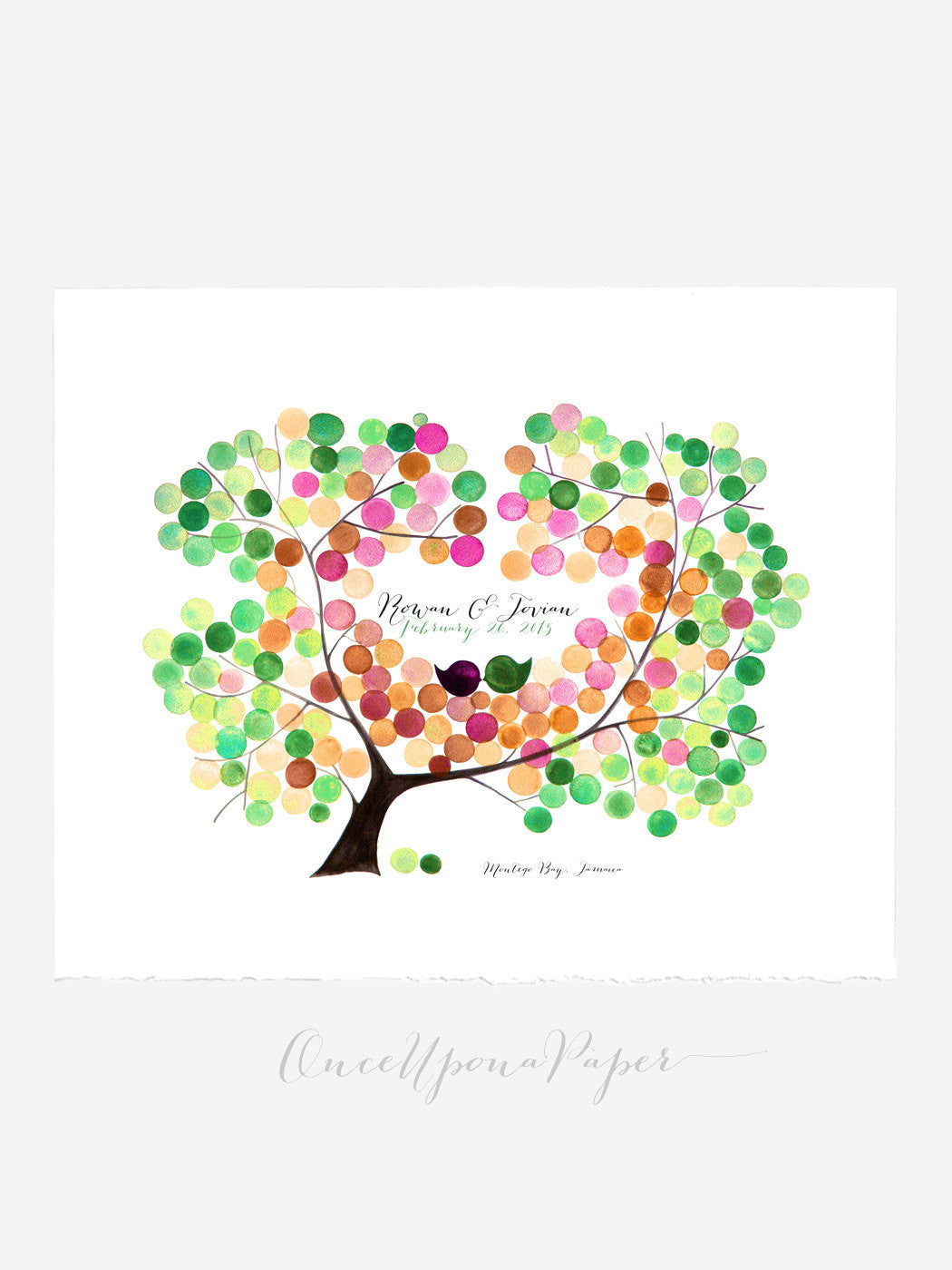 Wedding Guest Book AMUR MAPLE TREE gift