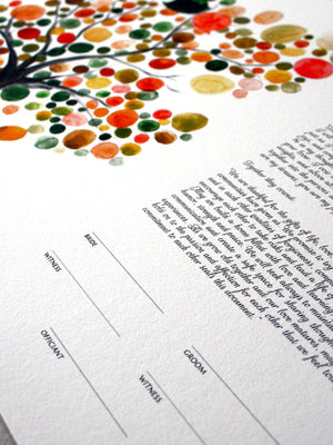 Ketubah art print - Master Tree of Life