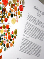 Load image into Gallery viewer, Ketubah art print - Master Tree of Life