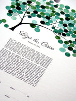 Load image into Gallery viewer, Ketubah art print - YULAN MAGNOLIA TREE