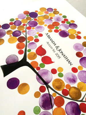Wedding Guest Book - 100 guest signatures - MUME APRICOT TREE