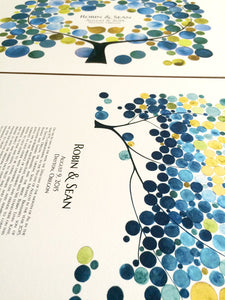 Modern Ketubah and Matching Guestbook Set