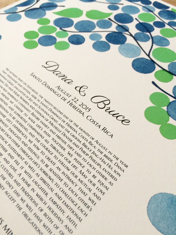 Ketubah print - Heavy Branches