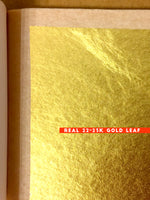 Load image into Gallery viewer, 23 karat real gold leaf accents