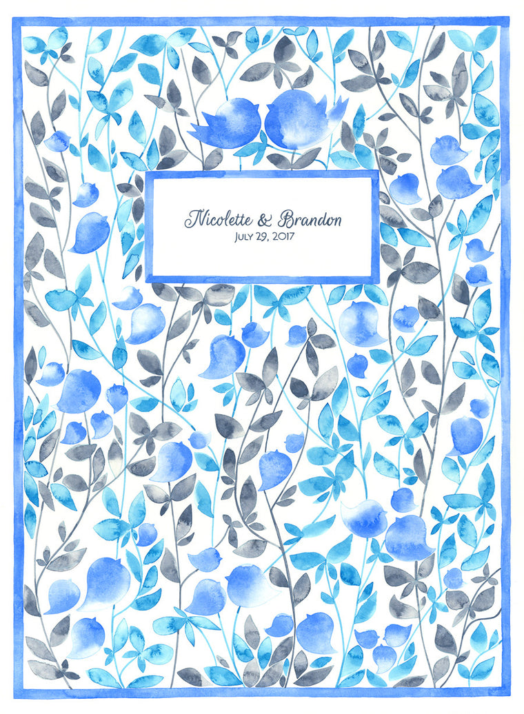 Wedding Guest book print - Beloved Garden - SONG OF SONGS שיר השירים AΣΜΑ AΣΜΆΤΩΝ