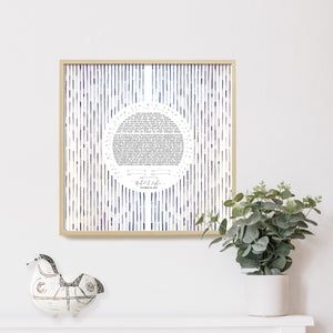Mid century modern Waterfall Ketubah watercolor