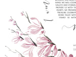 Load image into Gallery viewer, Spring Japanese Ink Sumi-e Ketubah > Magnolia Flower Tree