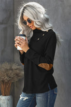 Load image into Gallery viewer, Buttoned Neck Knit Long Sleeves Top