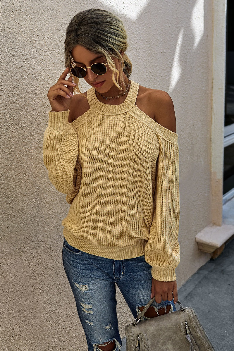 Loose Knit Cut-out Sweater