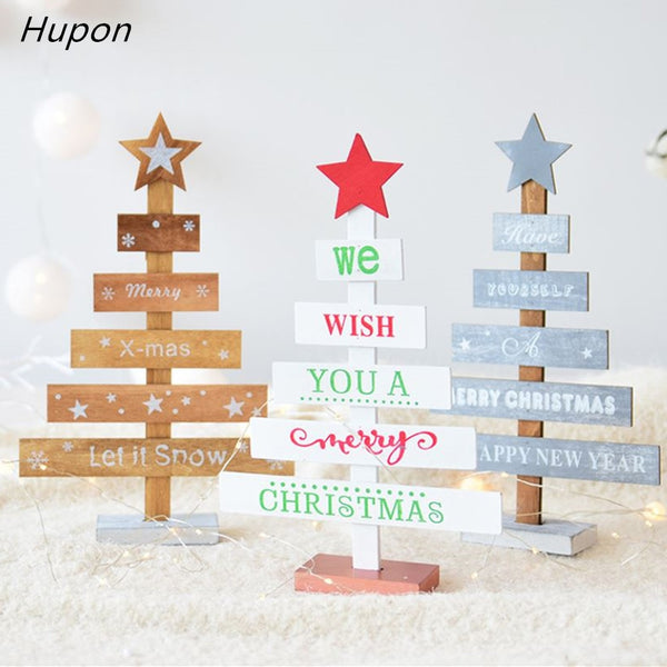 Wooden Mini Christmas Tree Decoration