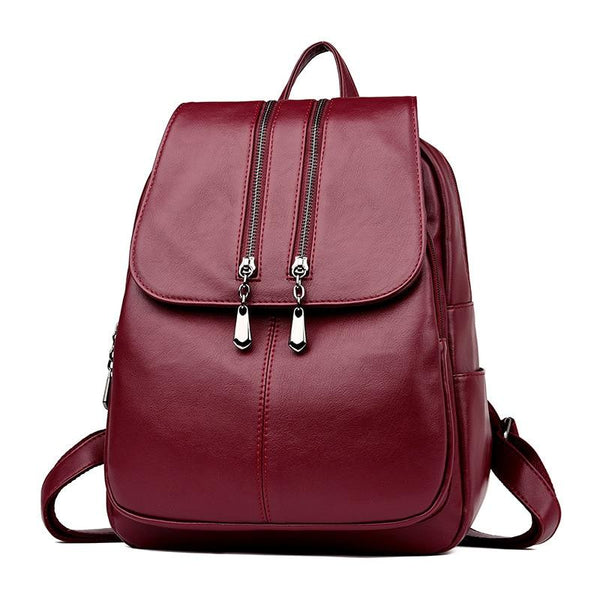 Women's Leather Luxury Laptop Backpack