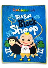 Load image into Gallery viewer, CoComelon Baa Baa Black Sheep Blanket