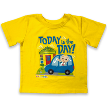 Load image into Gallery viewer, CoComelon Today is the Day Yellow T-Shirt