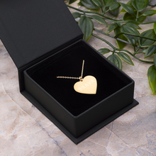 Load image into Gallery viewer, BRAVA Engraved Silver Heart Necklace