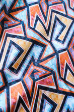 Load image into Gallery viewer, Geometric Retro Orange, Blue and Aqua Shapes