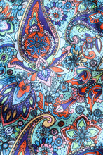 Load image into Gallery viewer, Turquoise with Multicolor Paisley