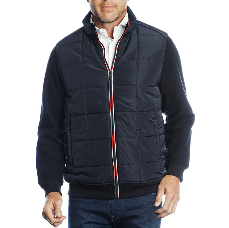 Navy with Navy Quilted Front