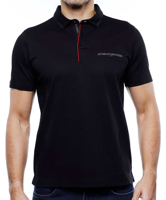 Big and Tall Black Polo