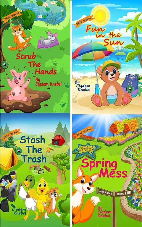 Book Set - Four Early Decodable Chapter Paperback Books