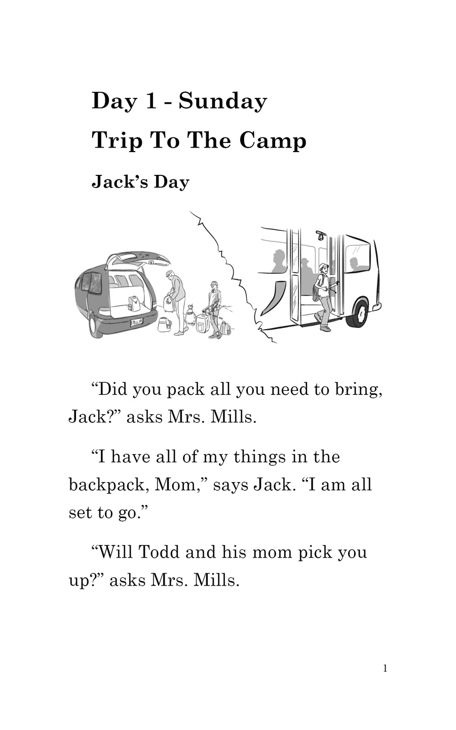 Six Days at Camp with Jack and Max: Paperback PLUS Comprehension Workbook