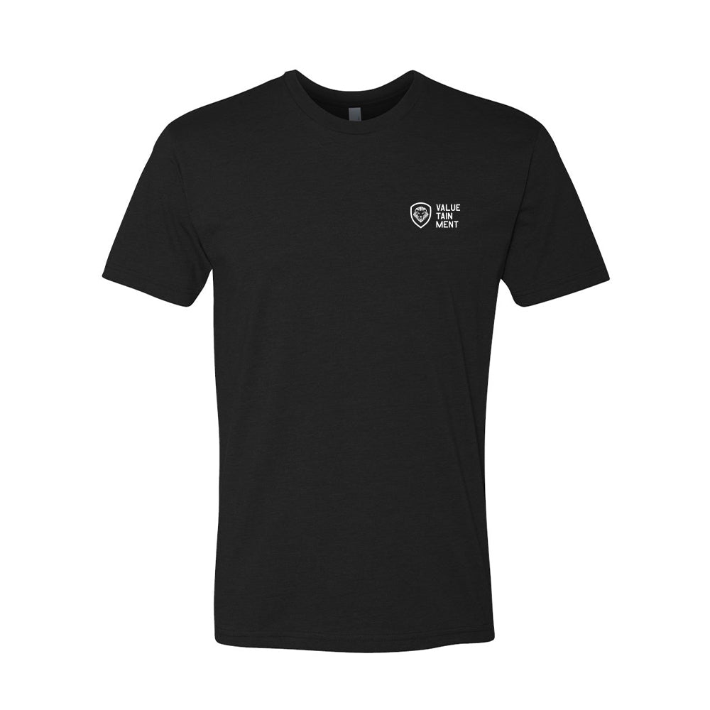 Valuetainment Lettered Shield Men's Tee