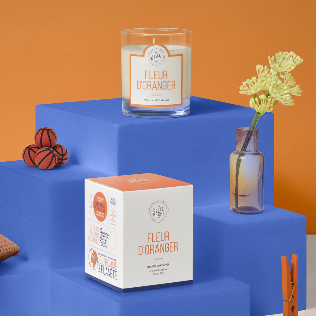 La Belle Mèche Orange Blossom Scented Candle