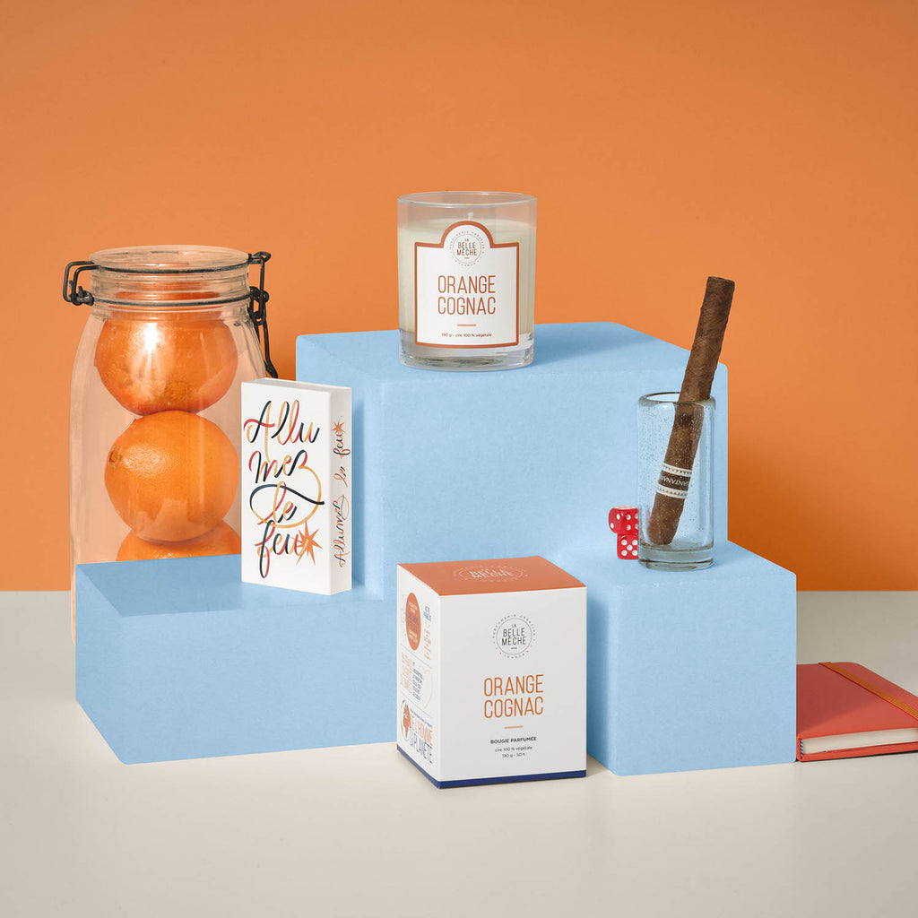 Scented candle La Belle Mèche Orange Cognac