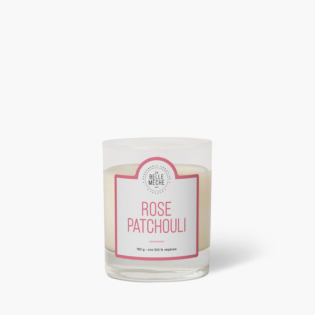 Rose Patchouli Scented Candle