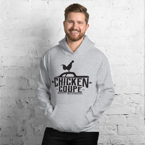 Chicken Coupe Unisex Hoodie (black font)