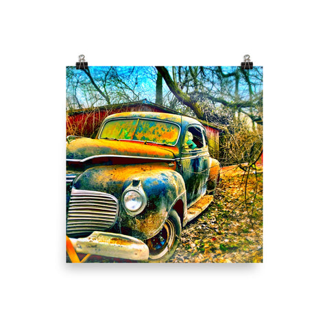 41 Plymouth Chicken Coupe Poster