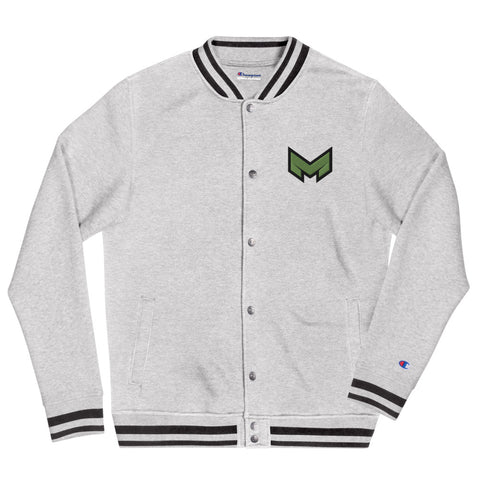 "Maffett Motorwerks ""M"" logo Embroidered Champion Bomber Jacket"