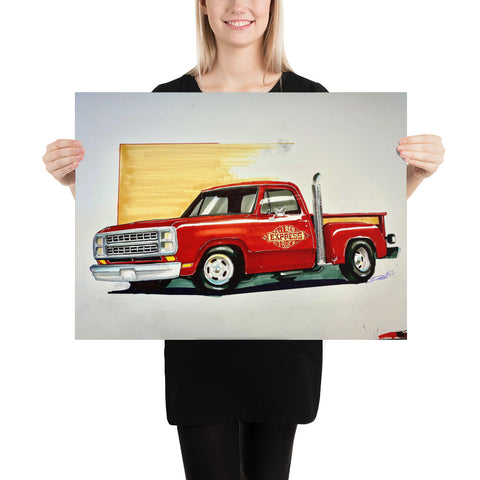 Lil Red Express Marker Rednering - Photo paper poster