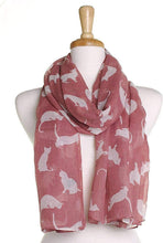 Load image into Gallery viewer, Pink with White Cats Scarf, Beautiful Design, Fantastic for The Animal Lover in us All