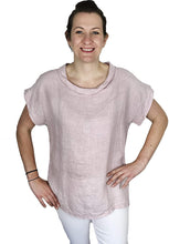 Load image into Gallery viewer, Pamper Yourself Now ltd Baby Pink 100% Linen Cowl Neck Tunic Made in Italy (AA85)