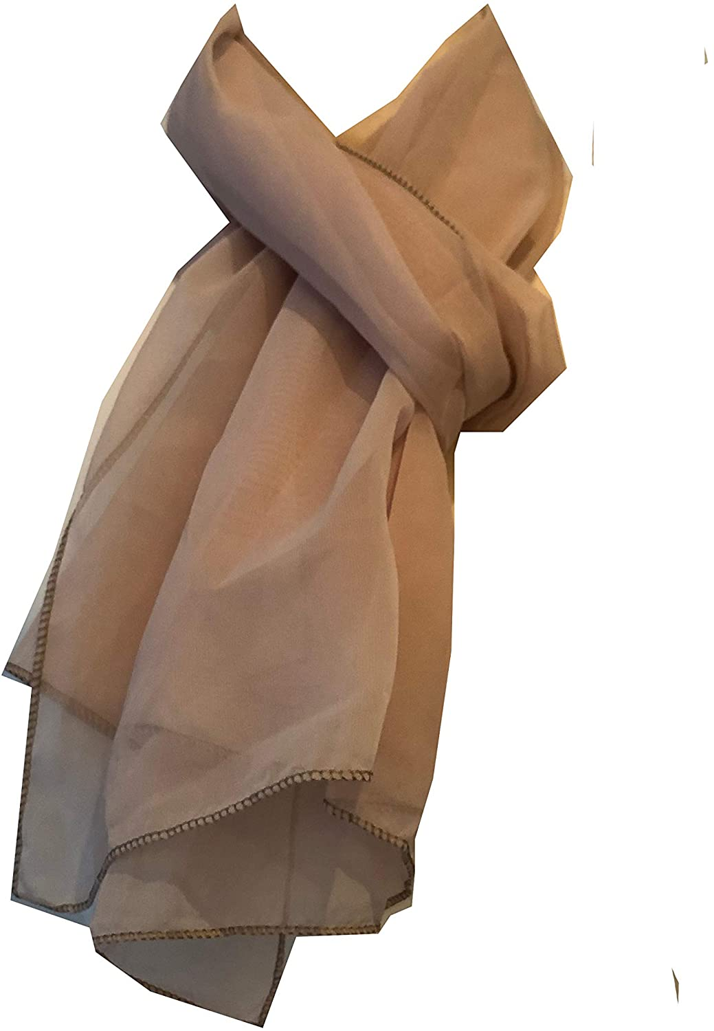 Plain Beige Chiffon Style Scarf Thin Pretty Scarf Great for Any Outfit Lovely Gift