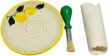 Load image into Gallery viewer, Lemon Design Garlic and Ginger Grater Set with Brush and Peeler. A Must for Every Foodie who Loves to Cook. (Ref 1)