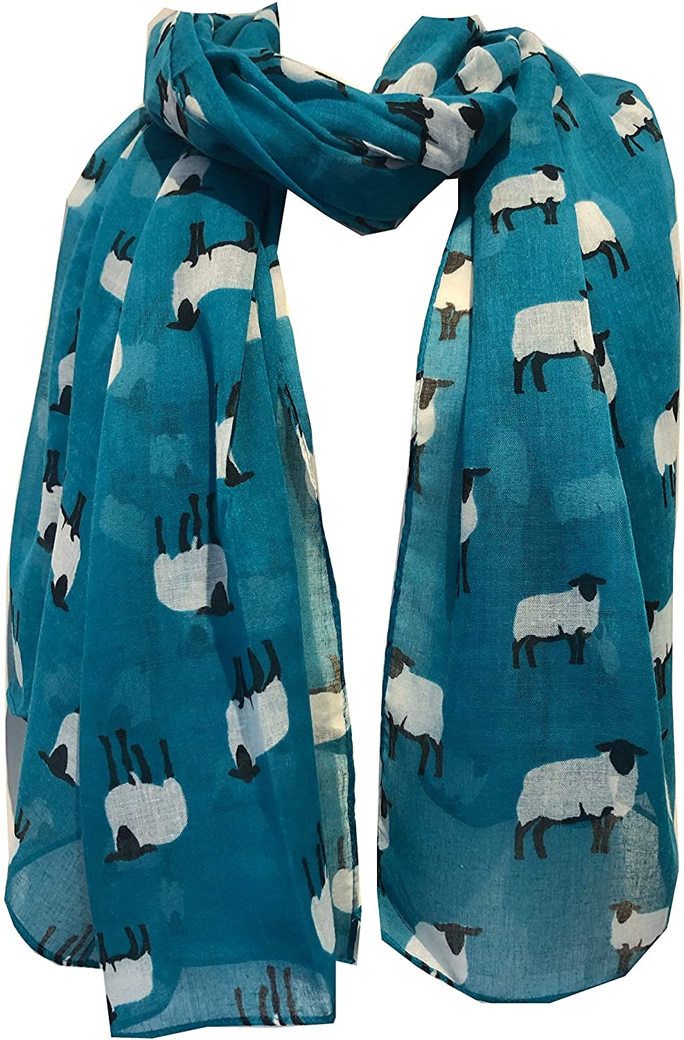 Pamper Yourself Now Green Sheep Design Long Scarf, Great for Presents/Gifts for Sheep Lovers.