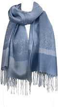 Load image into Gallery viewer, Sky Blue Pashmina Style Scarf, Lovely Soft - Lovely Summer wrap, Fantastic Gift