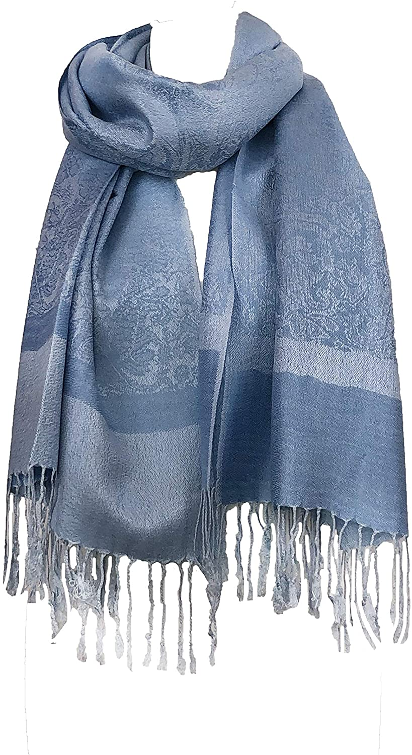 Sky Blue Pashmina Style Scarf, Lovely Soft - Lovely Summer wrap, Fantastic Gift