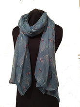 Load image into Gallery viewer, Pamper Yourself Now Blue Dragonfly Daydream Design Soft Long Scarf/wrap